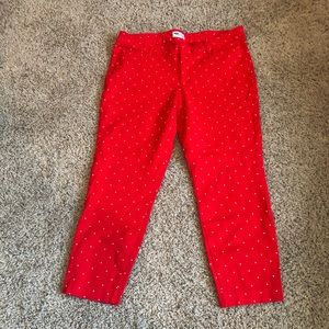 Old Navy Pixie Pants, Red/White Polka Dots, 16